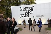 Frieze. Regent's Park. London. 17 October 2013