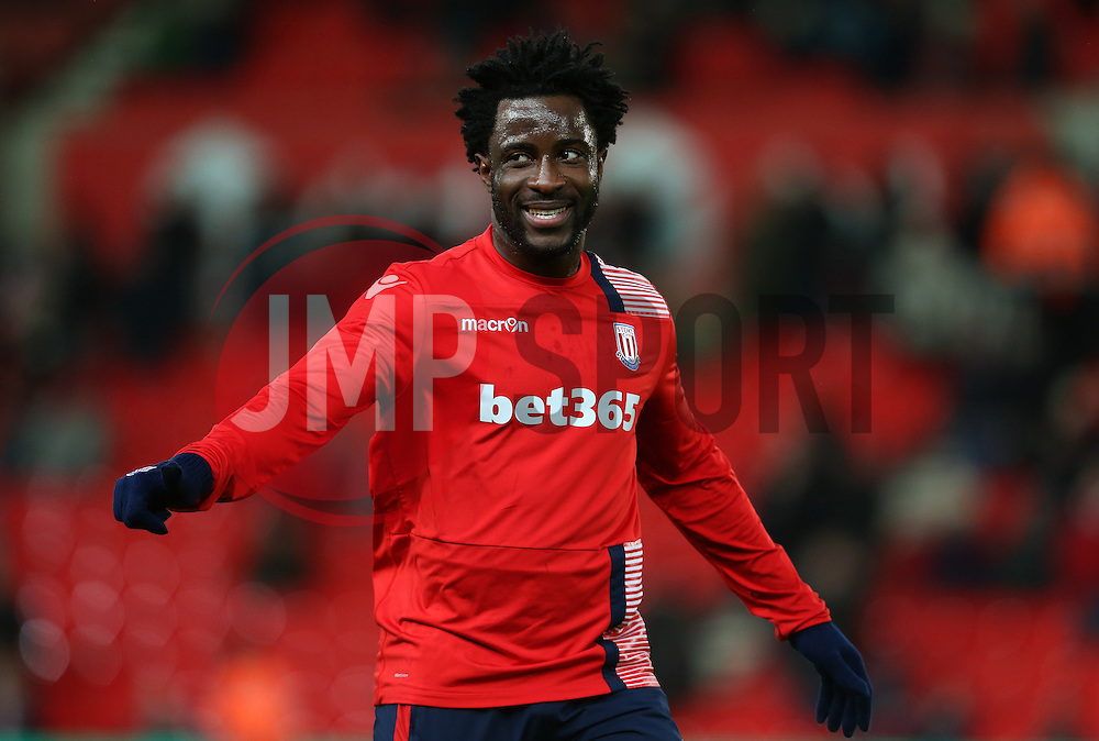 Wilfried Bony of Stoke City - Mandatory by-line: Matt McNulty/JMP - 01/02/2017 - FOOTBALL - Bet365 Stadium - Stoke-on-Trent, England - Stoke City v Everton - Premier League