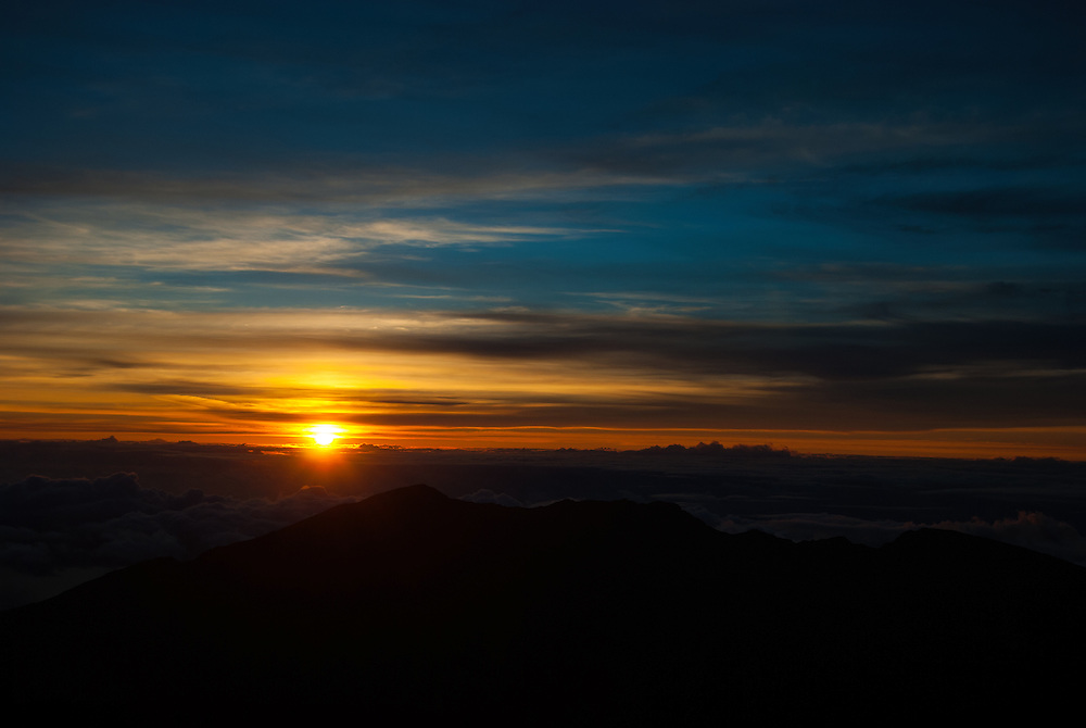 Sunrise at Haleakalā National Park, Maui, Hawaii