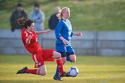 SKELMERSDALE, ENGLAND - Sunday, December 14, 2008: Liverpool's Caroline Charlton in action against Birmingham City during the Women's FA Premier League match at the Ashley Travel Stadium. (Photo by David Rawcliffe/Propaganda)