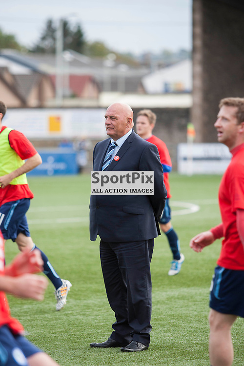Forfar manager Dick Campbell in the Forfar Athletic v Ayr United Station Park, Forfar, 17 October 2015<br />