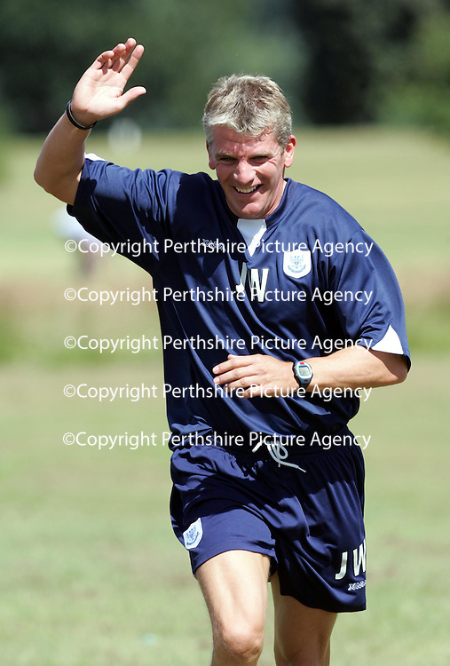 St Johnstone Training...22.07.05<br />Jim Weir<br /><br />see story by Gordon Bannerman Tel: 01738 553978 or 07729 865788<br />Picture by Graeme Hart.<br />Copyright Perthshire Picture Agency<br />Tel: 01738 623350  Mobile: 07990 594431