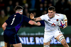 Tom Willis of England U20 takes on Murphy Walker of Scotland U20 - Mandatory by-line: Robbie Stephenson/JMP - 15/03/2019 - RUGBY - Franklin's Gardens - Northampton, England - England U20 v Scotland U20 - Six Nations U20
