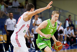 Miha Lapornik of Slovenia during basketball match between National teams of Turkey and Slovenia in Qualifying Round of U20 Men European Championship Slovenia 2012, on July 17, 2012 in Domzale, Slovenia. (Photo by Vid Ponikvar / Sportida.com)