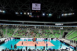 Arena during volleyball match between National teams of Slovenia and Portugal in 2nd Round of 2018 FIVB Volleyball Men's World Championship qualification, on May 26, 2017 in Arena Stozice, Ljubljana, Slovenia. Photo by Vid Ponikvar / Sportida