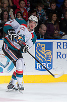 KELOWNA, CANADA - DECEMBER 27:  Mitchell Wheaton #6 of the Kelowna Rockets makes a pass against the Kamloops Blazers on December 27, 2013 at Prospera Place in Kelowna, British Columbia, Canada.   (Photo by Marissa Baecker/Shoot the Breeze)  ***  Local Caption  ***