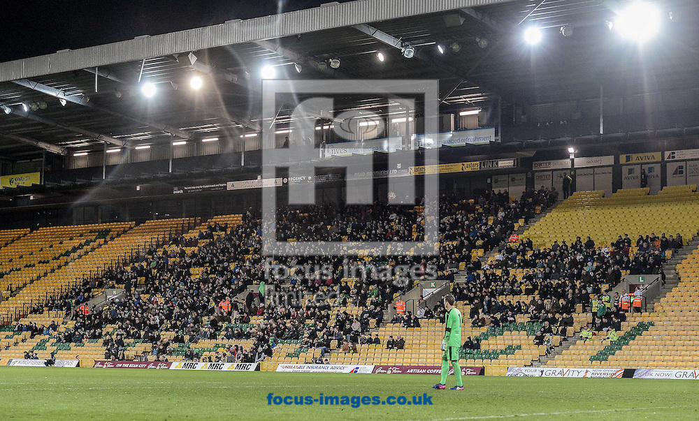 The crowd at Norwich City U23 versus Dinamo Zagreb U23 during the Premier League International Cup Quarter-Final match at Carrow Road, Norwich<br /> Picture by Matthew Usher/Focus Images Ltd +44 7902 242054<br /> 27/02/2017