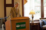 Signing of a Memorandum of Understanding between Beijing International Studies University and Ohio University at Baker Center on October 15, 2013. Photo by Stephen Reiss.
