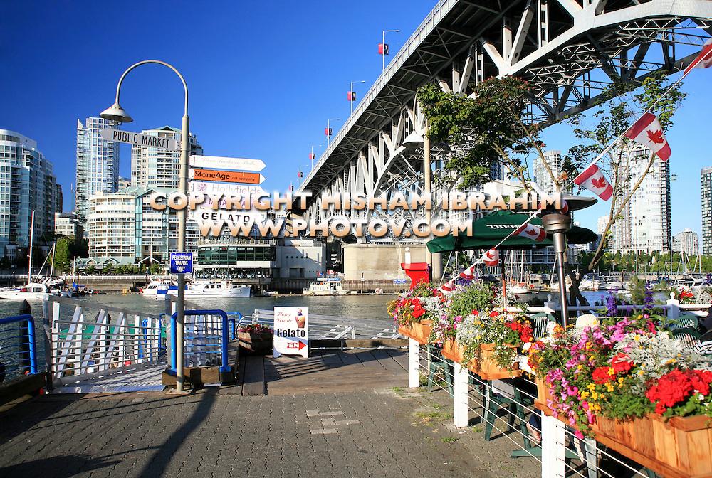 Granville Island and Granville Bridge, Vancouver, Canada