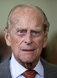 The Duke of Edinburgh attends the Presentation Reception for The Duke of Edinburgh Gold Award holders in the gardens at the Palace of Holyroodhouse in Edinburgh.
