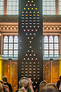 The London Design Festival comes to the V&A with a range of installations including: Zotem, supported by Swarovski, is an 18m tall double-sided monolith created by young Norwegian designer Kim Thomé; The Cloakroom by Faye Toogood, where visitors are invited to take one of 150 coats to wear as they explore the Museum using a sewn-in fabric map to guide them to discover 10 different coat sculptures; Curiosity Cloud by mischer'traxler, for Perrier-Jouet in the Music Room, in which 250 mouth-blown glass globes hang from the ceiling containing a single, hand-made insect; and The Ogham Wall, by Grafton Architects for Irish Design 2015, in which 23 'fins' (resembling Irish and British standing stones) carry an ancient alphabet which originated deep in Irish Celtic history. The annual festival runs from 19 – 27 September, and the Victoria and Albert Museum is the Festival's hub - www.londondesignfestival.com
