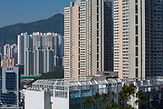 A view of the playground on top of South Island School on Nam Fung Road, Hong Kong.  (photo by Andrew Aitchison / In pictures via Getty Images)