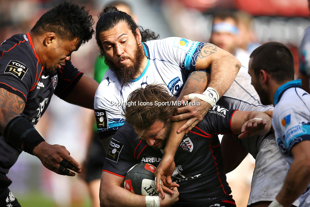 Rene Ranger / Maxime Medard - 14.03.2015 - Toulouse / Montpellier - 20e journee Top 14<br /> Photo : Manuel Blondeau / Icon Sport