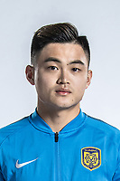 **EXCLUSIVE**Portrait of Chinese soccer player Huang Zichang of Jiangsu Suning F.C. for the 2018 Chinese Football Association Super League, in Nanjing city, east China's Jiangsu province, 23 February 2018.
