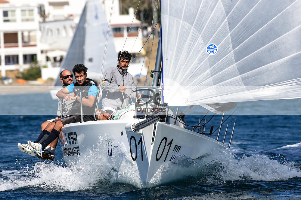 2016 en Sotogrande, ESPAÑA - Octubre 8/9: Gesta Real Estates durante el Circuito J80 en aguas de Sotogrande. (Photo by Jesus DYañez for dymag.es)