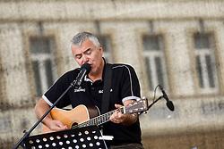 Concert of Slovenian singer Zoran Predin for fans at FIBA Europe Eurobasket Lithuania 2011, on September 10, 2011, in   Vilnius, Lithuania.  (Photo by Vid Ponikvar / Sportida)