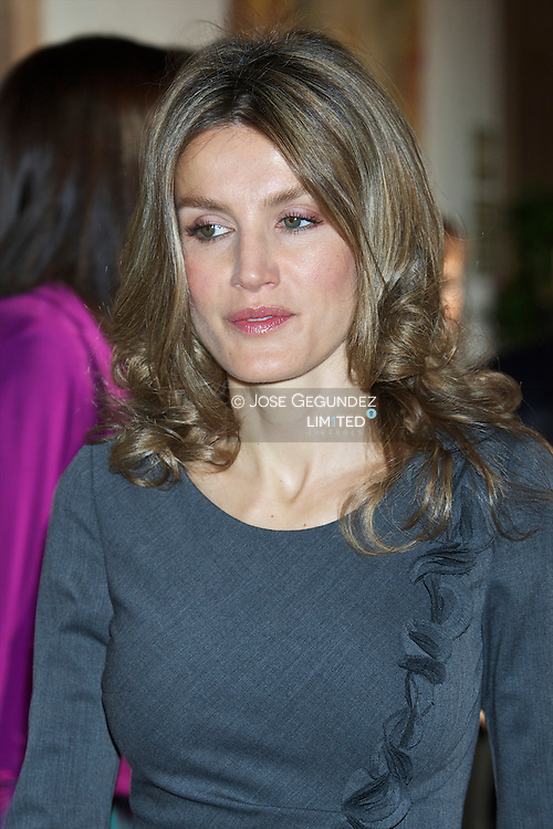 Prince Felipe of Spain and Princess Letizia of Spain receive in audience guests of Prince of Asturias Awards 2010 at the Reconquista Hotel on October 22, 2010 in Oviedo, Spain.