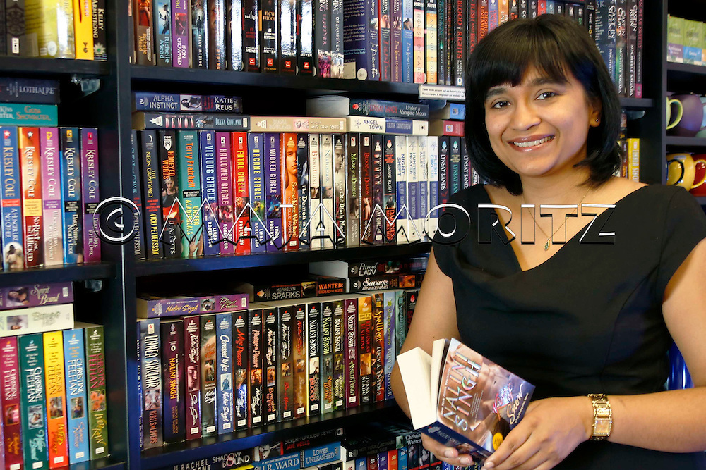 """Nalini Singh at the """"CHAPTER"""" bookshop and cafe in Mount Eden, Auckland, New Zealand"""