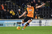 Hull City defender Harry Maguire  during the Sky Bet Championship match between Hull City and Derby County at the KC Stadium, Kingston upon Hull, England on 27 November 2015. Photo by Ian Lyall.