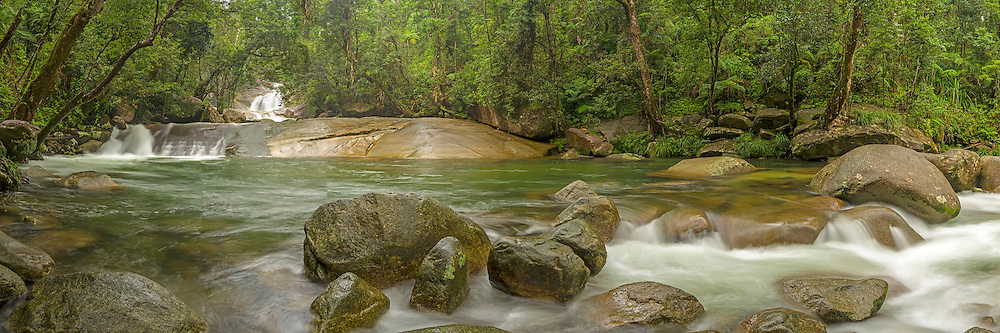 Josephine falls within Wooroonooran National Park located near the Atherton Tablelands, Queensland, Australia.