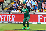 Wicket - Liton Das of Bangladesh catches Rohit Sharma of India during the ICC Cricket World Cup 2019 match between Bangladesh and India at Edgbaston, Birmingham, United Kingdom on 2 July 2019.