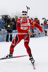 11.12.2011, Biathlonzentrum, Hochfilzen, AUT, E.ON IBU Weltcup, 2. Biathlon, Hochfilzen, Staffel Herren, im Bild Berger Lars (Team NOR) // during Team Relay E.ON IBU World Cup 2th Biathlon, Hochfilzen, Austria on 2011/12/11. EXPA Pictures © 2011. EXPA Pictures © 2011, PhotoCredit: EXPA/ nph/ Straubmeier..***** ATTENTION - OUT OF GER, CRO *****