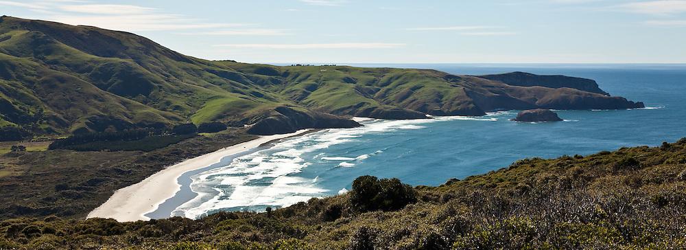 Allan's Beach, Otago Peninsula, New Zealand (12x33 inch print)