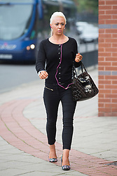 © Licensed to London News Pictures. 14/09/2015. Leeds, UK. Josie Cunningham arrives at Leeds Magistrates court to face charges of 'revenge porn' she has pleaded not guilty to disclosing a private sexual photograph of former partner Andrew Goy. Photo credit: Andrew McCaren/LNP