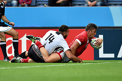 DTH Van Der Merwe of Canada scores a try in the first half - Mandatory byline: Patrick Khachfe/JMP - 07966 386802 - 06/10/2015 - RUGBY UNION - Leicester City Stadium - Leicester, England - Canada v Romania - Rugby World Cup 2015 Pool D.