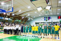 Team Australia during friendly basketball match between National teams of Slovenia and Australia, on August 3, 2015 in Arena Tri lilije, Lasko, Slovenia. Photo by Vid Ponikvar / Sportida