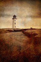 The famous lighthouse at the eastern entrance of St. Margarets Bay in Nova Scotia.