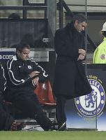 Photo: Barry Bland.<br />RSC Anderlecht v Chelsea. UEFA Champions League.<br />23/11/2005.<br />Chelsea manager Jose Mourinho (R).