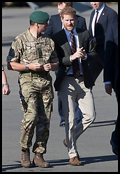 September 13, 2018 - Lympstone, United Kingdom - Image licensed to i-Images Picture Agency. 12/09/2018. Lympstone , United Kingdom. Prince Harry, The Duke of Sussex arriving for a visit at  the Royal Marines Commando Training Centre in Lympstone, Devon, United kingdom,  for the first time in his role as Captain General Royal Marines. (Credit Image: © Stephen Lock/i-Images via ZUMA Press)
