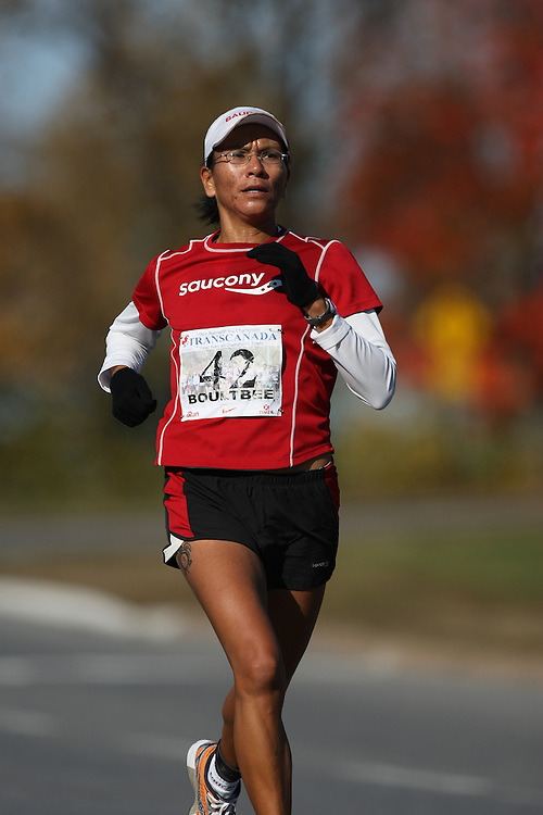 (Ottawa, ON---18 October 2008) MELANIE BOULTBEE competes in the 2008 TransCanada 10km Canadian Road Race Championships. Photograph copyright Sean Burges/Mundo Sport Images (www.msievents.com).