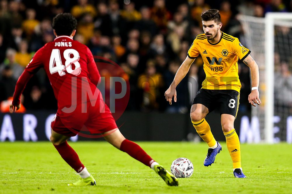 Ruben Neves of Wolverhampton Wanderers takes on Curtis Jones of Liverpool - Mandatory by-line: Robbie Stephenson/JMP - 07/01/2019 - FOOTBALL - Molineux - Wolverhampton, England - Wolverhampton Wanderers v Liverpool - Emirates FA Cup third round proper