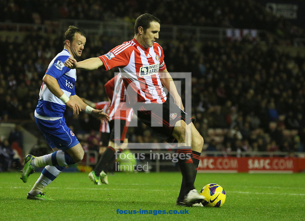 Picture by Paul Gaythorpe/Focus Images Ltd +447771 871632.11/12/2012.John O'Shea of Sunderland during the Barclays Premier League match at the Stadium Of Light, Sunderland.