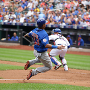 Starlin Castro, Chicago Cubs, scores a run during the New York Mets Vs Chicago Cubs MLB regular season baseball game at Citi Field, Queens, New York. USA. 2nd July 2015. Photo Tim Clayton