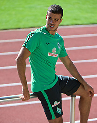 01.07.2015, Weserstadion, Bremen, GER, 1. FBL, SV Werder Bremen, Trainingsauftakt, im Bild Franco Mat&iacute;as Di Santo / Franco Matias Di Santo (SV Werder Bremen #9) // during a Trainingssession of German Bundesliga Club SV Werder Bremen at the Weserstadion in Bremen, Germany on 2015/07/01. EXPA Pictures &copy; 2015, PhotoCredit: EXPA/ Andreas Gumz<br /> <br /> *****ATTENTION - OUT of GER*****