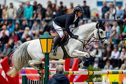 HASSMANN Felix (GER), Cayenne WZ<br /> Mannheim - Maimarkt Turnier 2019<br /> -DIE BADENIA- <br /> Großer Preis der MVV<br /> Int. Springprüfung mit Stechen (1.60 m)<br /> 07. Mai 2019<br /> © www.sportfotos-lafrentz.de/Stefan Lafrentz
