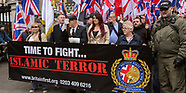 1 Apr 2017 - EDL & British First meet strong Anti-Facist counter demonstration and a large police pr
