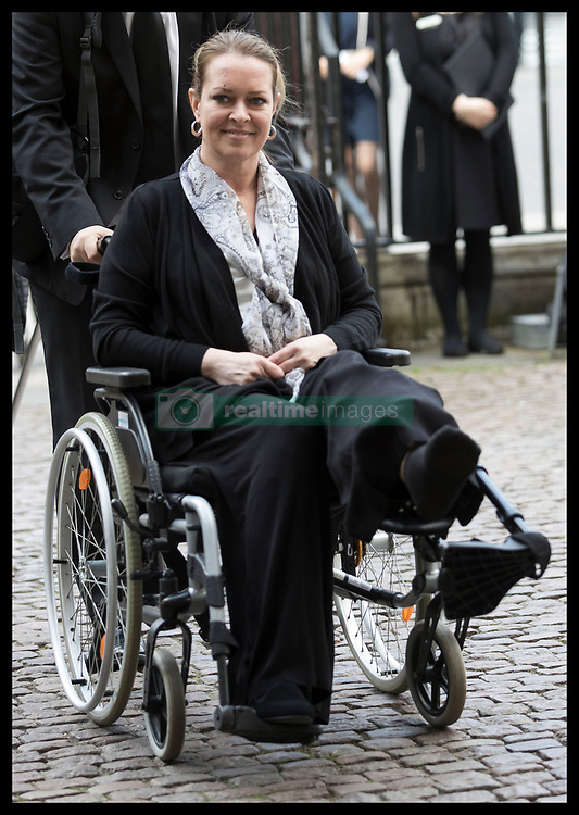 April 5, 2017 - London, United Kingdom - MELISSA COCHRAN, the American tourist injured in the Westminster terror attack, arriving at a Service of Hope at Westminster Abbey, following the attack on Westminster Bridge two weeks ago, in London, Britain. (Credit Image: © Stephen Lock/i-Images via ZUMA Press)