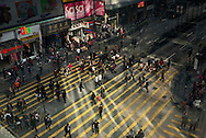 For a story by Dan Levin slug Hong Kong.February 16 2013, Kowloon, Hong Kong.The Chungking Mansions stand on a segment of Nathan Road, also called the Golden Mile, a busy commercial street at the heart of Tsim Sha Tsui, .  .Credit: Gilles Sabrie for The New York Times..