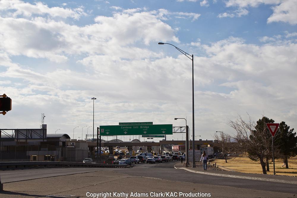 Border crossing, or Port of Entry, in El Paso, Texas.
