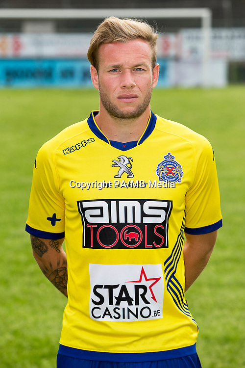 Waasland-Beveren's Thibault Moulin poses during the 2015-2016 season photo shoot of Belgian first league soccer team Waasland-Beveren, Tuesday 07 July 2015 in Beveren-Waas.