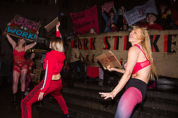 London, UK. 8th March, 2019. Thousands of women join sex workers for a Sex/Work Strike as part of the International Women's Strike on International Women's Day to highlight laws that jeopardise the lives of sex workers and to demand decriminalisation so that sex workers can organise collectively for better working conditions and to keep each other safe.