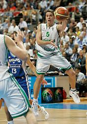 Jaka Lakovic of Slovenia at Eurobasket Men 2007 Quarter Final between Greece and Slovenia in Madrid, Spain, on September 14, 2007...