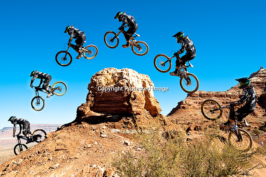Tyler MacCaul jump sequence at the 2010 Red Bull Rampage