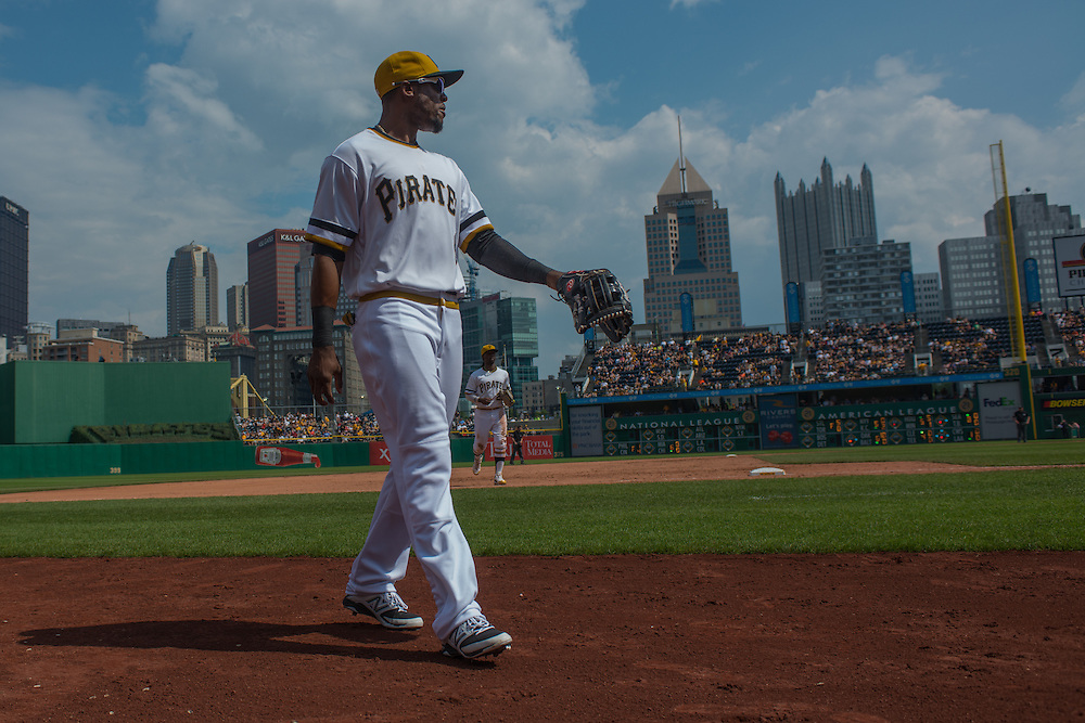 PITTSBURGH, PA - JUNE 08:  Starling Marte #6 of the Pittsburgh Pirates looks on during the game against the Milwaukee Brewers at PNC Park on June 8, 2014 in Pittsburgh, Pennsylvania. (Photo by Rob Tringali) *** Local Caption *** Starling Marte