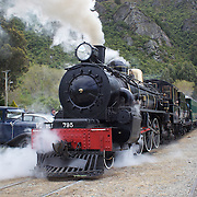 The Kingston Flyer vintage steam train, back in action and operating again after a three year break. The historic locomotives and carriages run daily for tourist between Kingston and Fairlight near Queenstown, Central Otago, New Zealand, 29th October 2011. Photo Tim Clayton...