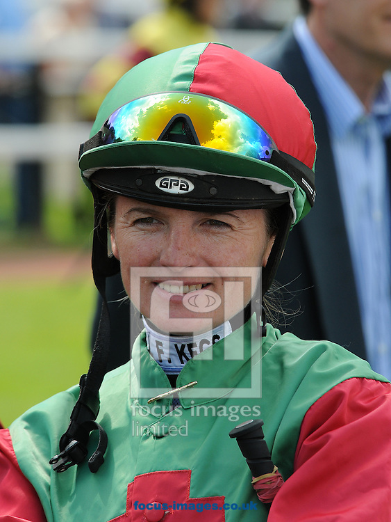 Amateur rider Carol Bartley at Pontefract Races. Pontefract.<br /> Picture by Alan Wright/Focus Images Ltd 07733 196489<br /> 30/06/2014